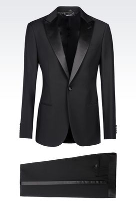 Armani Suits Men single-breasted dinner suit in virgin wool