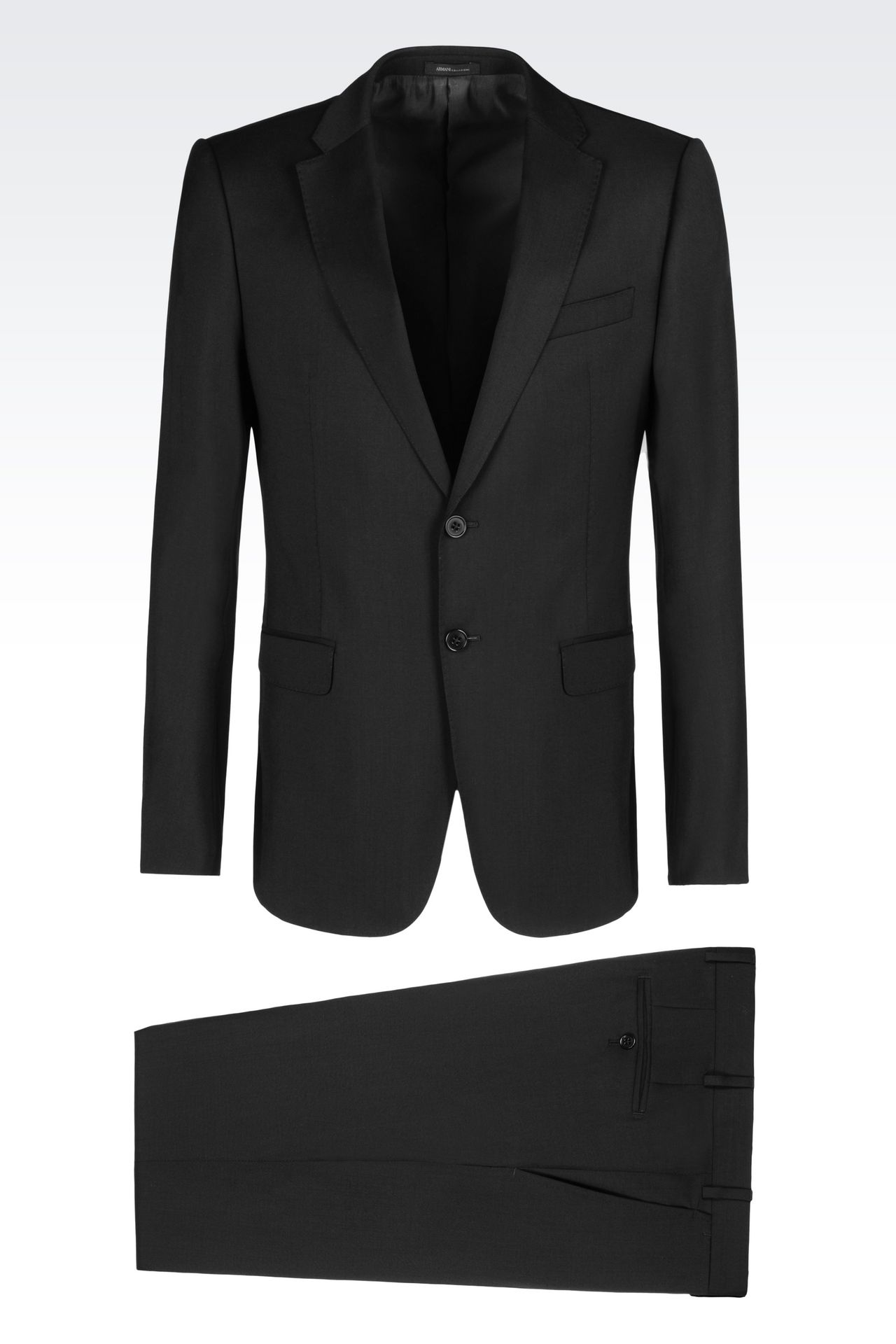 SLIM FIT SUIT IN VIRGIN WOOL: Two buttons suits Men by Armani - 0