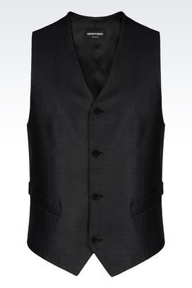 Armani Gilets Men gilet in wool and silk