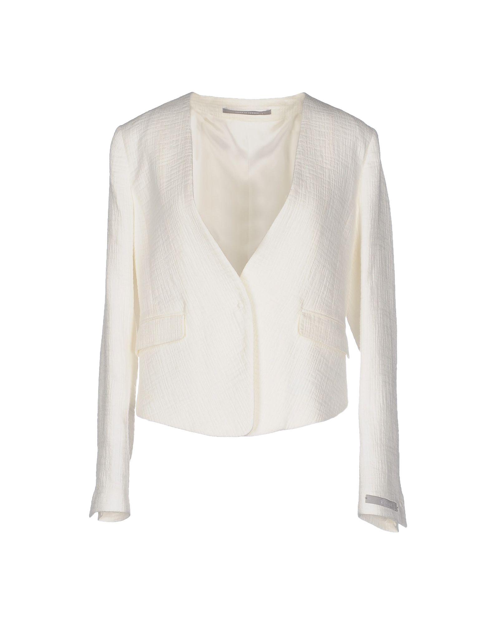 TIGER OF SWEDEN Damen Jackett Farbe Weiß Größe 5