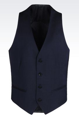 Armani Vests Men gilet in virgin wool