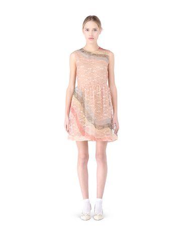 Redvalentino Rainbow Printed Lace Dress
