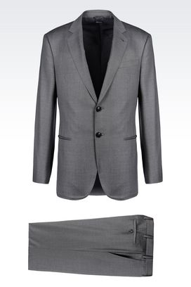 Armani Suits Men wall street line suit in wool and cashmere