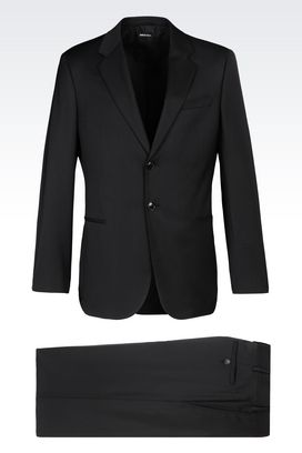 Armani Suits Men single-breasted suit in virgin wool