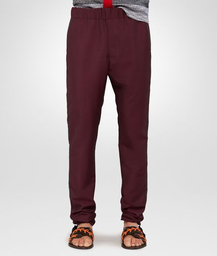 TROUSERS IN DARK VESUVIO MOHAIR WOOL