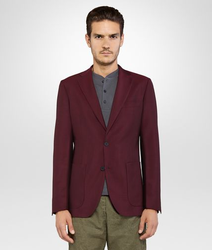 JACKET IN DARK VESUVIO MOHAIR WOOL