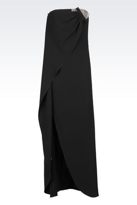 Armani Dresses Women long dress in silk cady