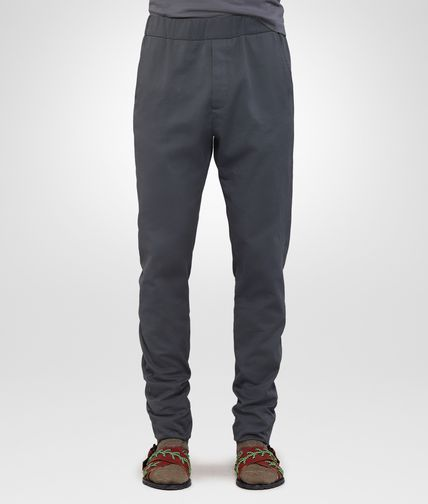 TROUSERS IN DARK ARDOISE COTTON