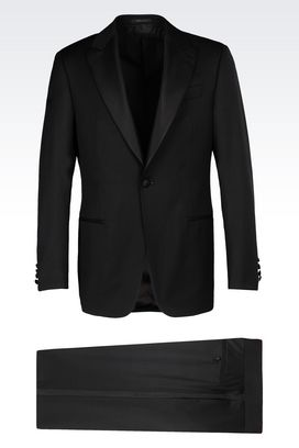 Armani Tuxedos Men dinner suit in virgin wool