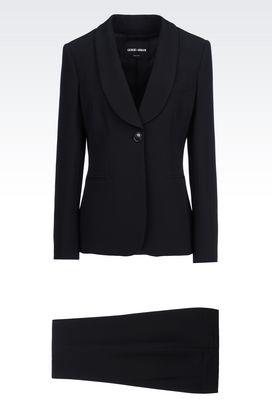 Armani Suits Women tuxedo in silk cady