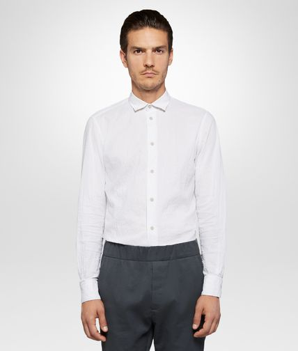 SHIRT IN WHITE DRIFT COTTON LINEN