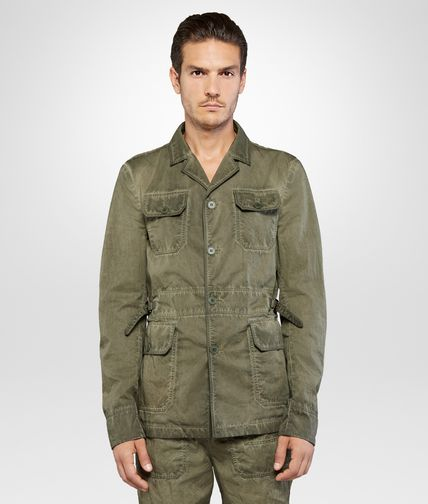 JACKET IN DARK SERGEANT POPLIN COTTON