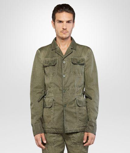 军士绿棉府绸夹克外套