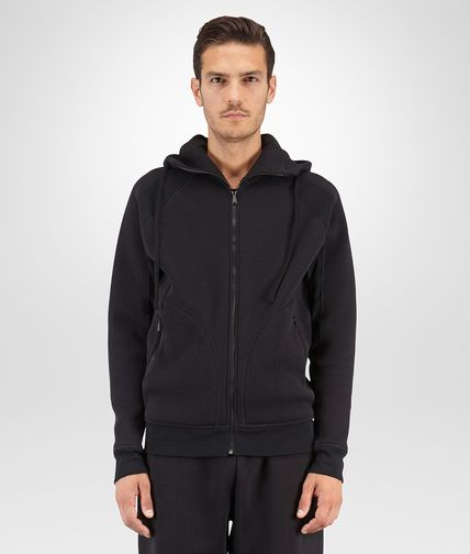 SWEATSHIRT IN NERO COTTON JERSEY