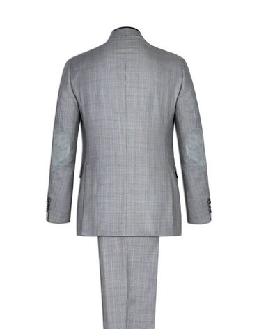 TWO-BUTTON SUIT IN WOOL AND SILK