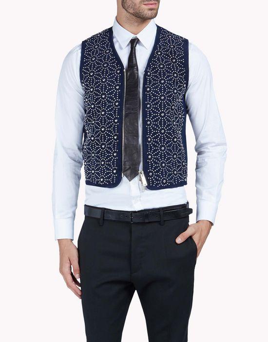 studded japanese star design vest coats & jackets Man Dsquared2