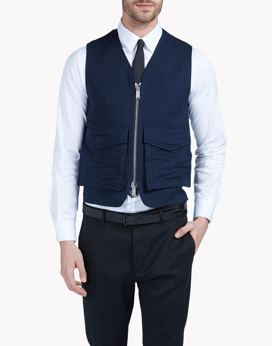knitted back vest coats & jackets Man Dsquared2