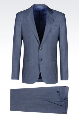 Armani Suits Men single-breasted suit in melange cloth