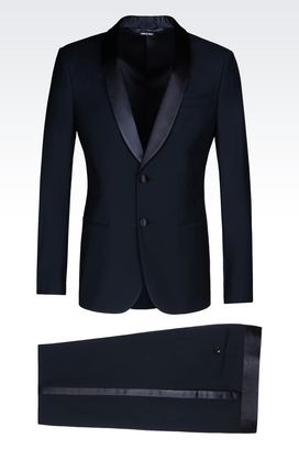 Armani Suits Men single-breasted dinner suit in twill