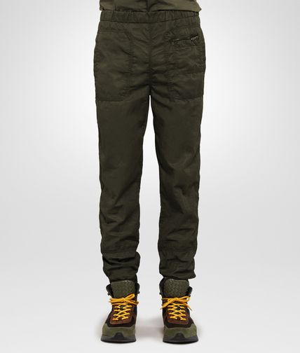 TROUSERS IN DARK SERGEANT POPLIN COTTON