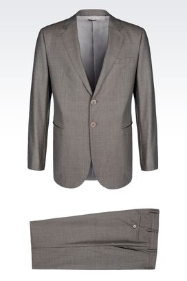 Armani Suits Men single-breasted suit in sand cloth
