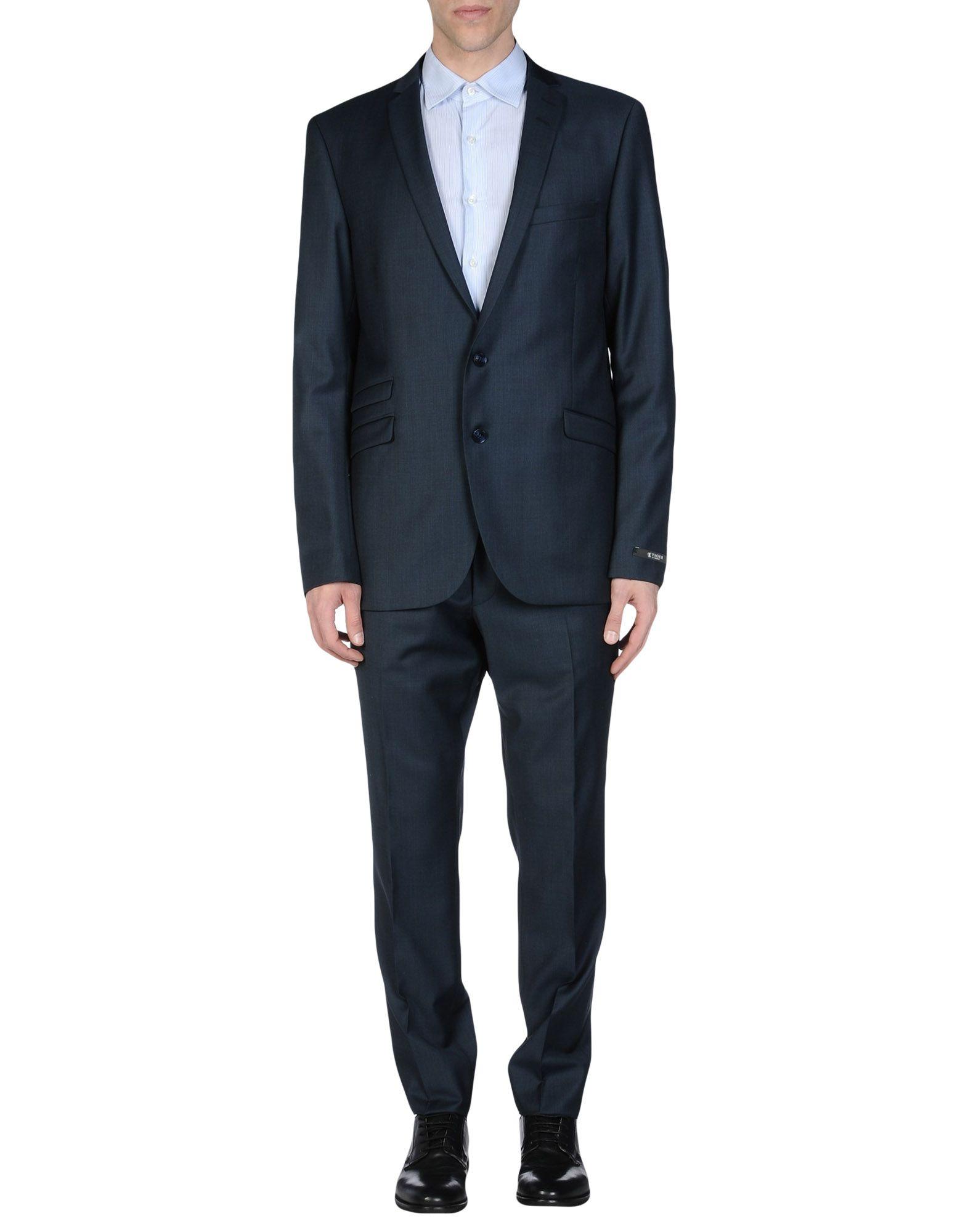 TIGER OF SWEDEN Herren Anzug Farbe Dunkelblau Größe 7