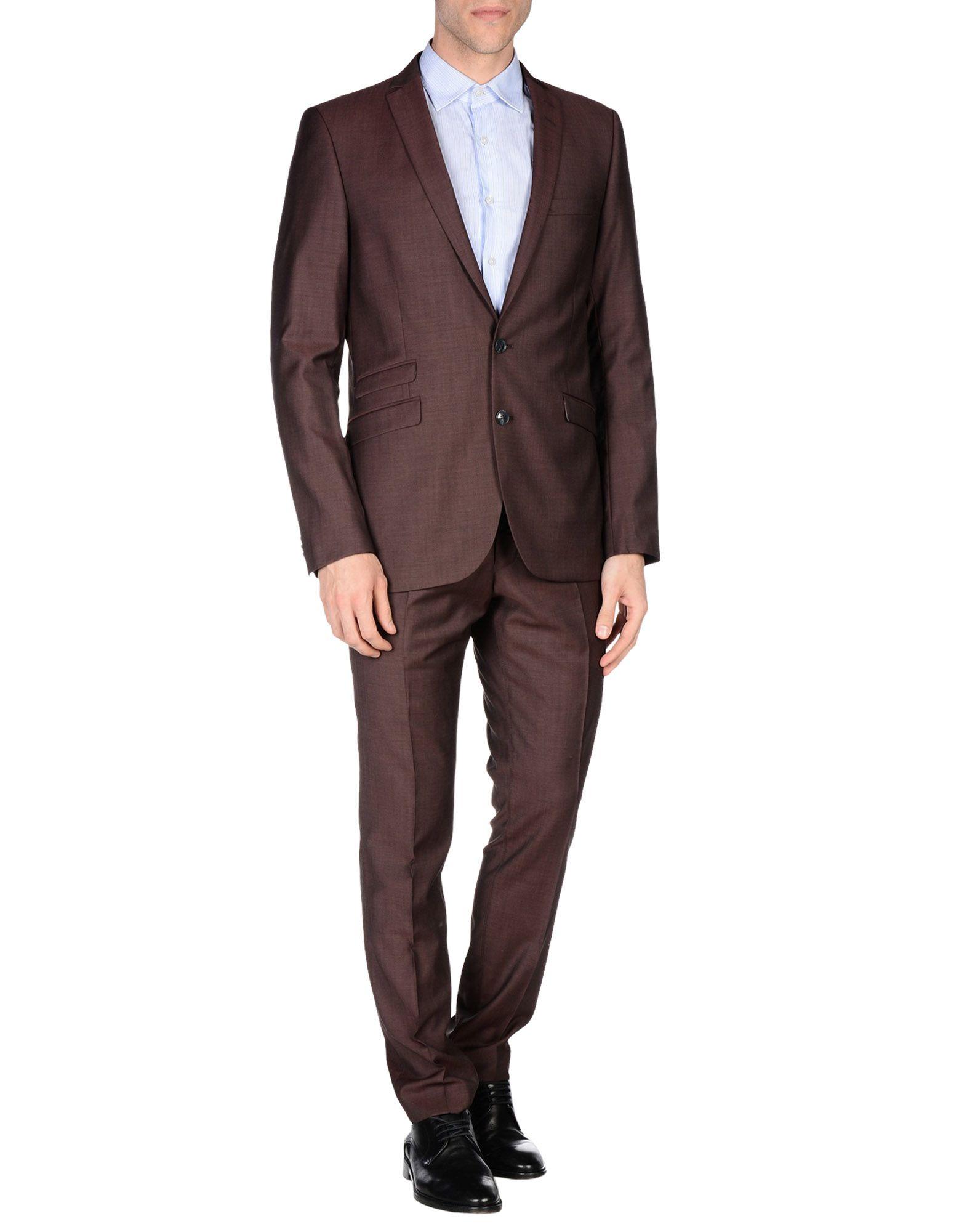 TIGER OF SWEDEN Herren Anzug Farbe Pflaume Größe 2