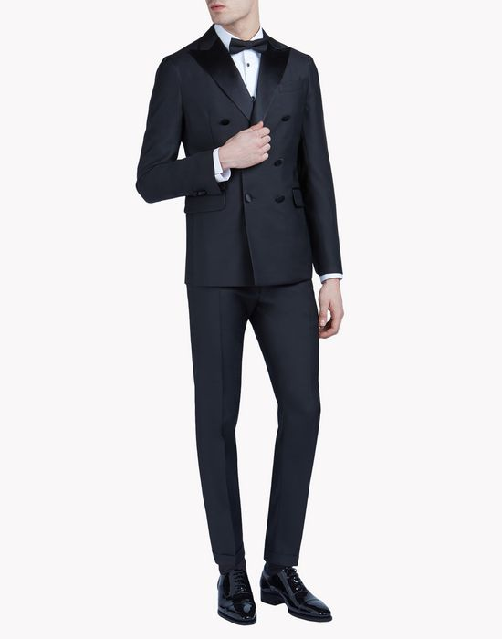 double breasted napoli suit combined look Man Dsquared2