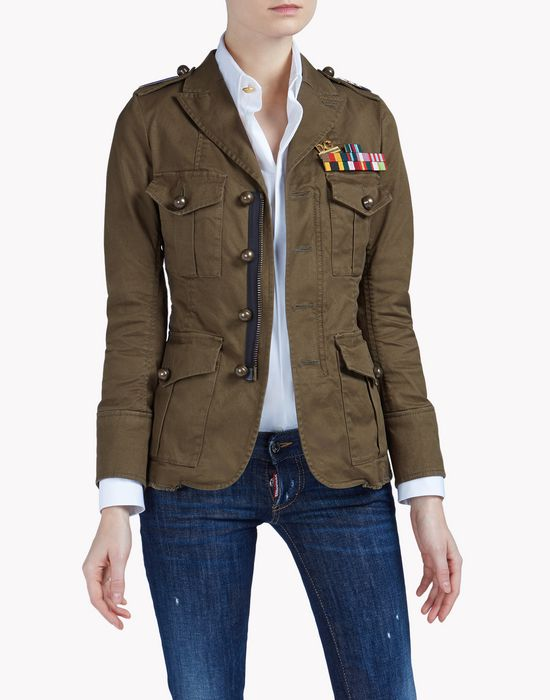 golden arrow jacket coats & jackets Woman Dsquared2