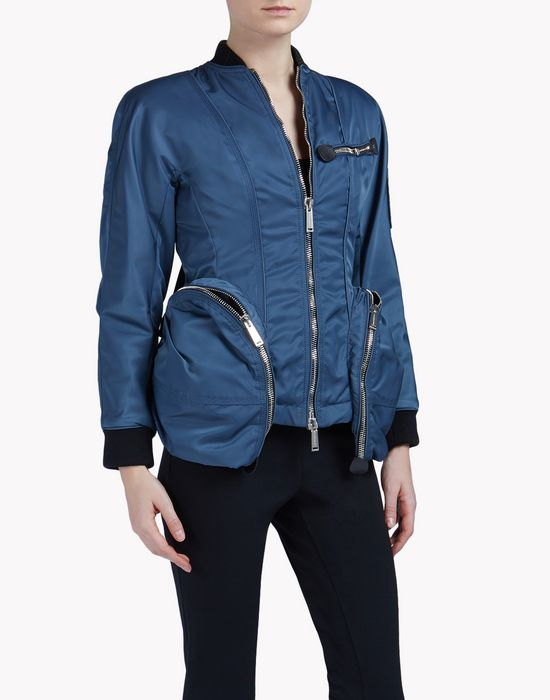 zipped jacket coats & jackets Woman Dsquared2