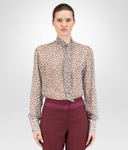 CAMICIA IN CREPE GEORGETTE STAMPATA MULTICOLOR