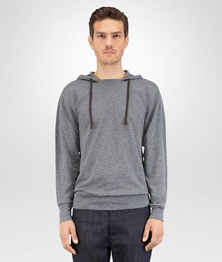 T SHIRT IN GREY PEACOCK COTTON JERSEY