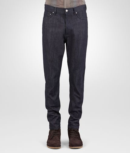 PANTALON EN DENIM DARK NAVY