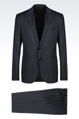 Armani Two buttons suits Men slim fit suit in virgin wool