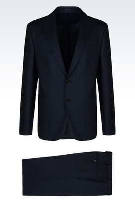 Armani Two buttons suits Men slim fit suit in wool and cotton
