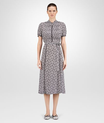 DRESS IN MIST NERO PRINTED CREPE DE CHINE