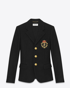 Club Jacket in Black Wool