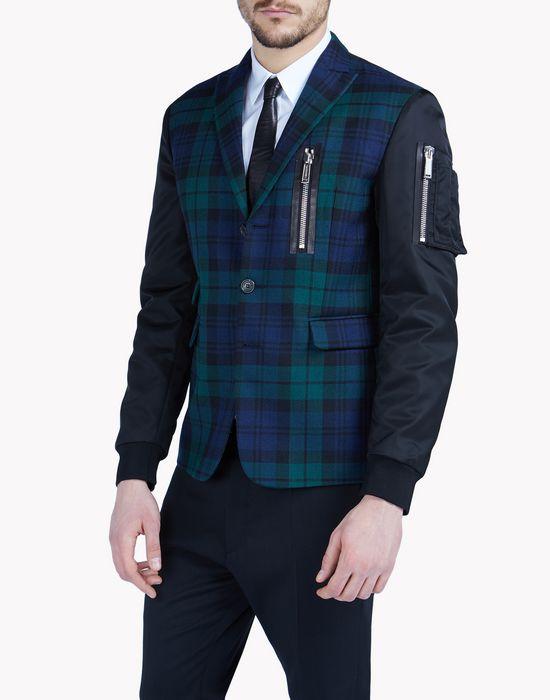 scottish check bomber jacket coats & jackets Man Dsquared2