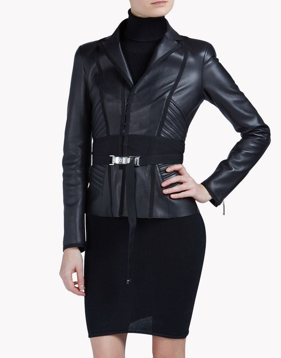cyclone leather jacket coats & jackets Woman Dsquared2