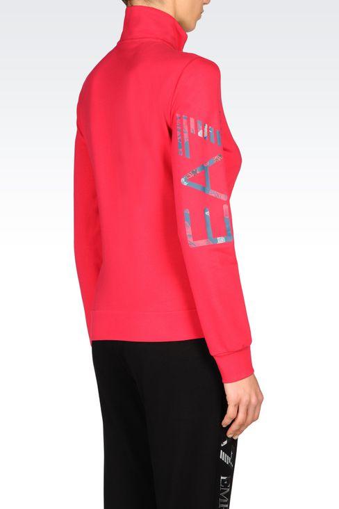 STRETCH COTTON SWEATSHIRT: Zip sweatshirts Women by Armani - 3