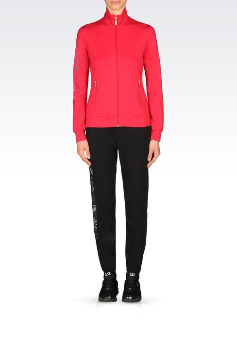 STRETCH COTTON SWEATSHIRT: Zip sweatshirts Women by Armani - 2
