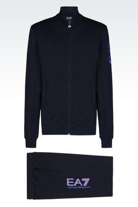 Armani Sweatsuits Men visibility line fleece tracksuit