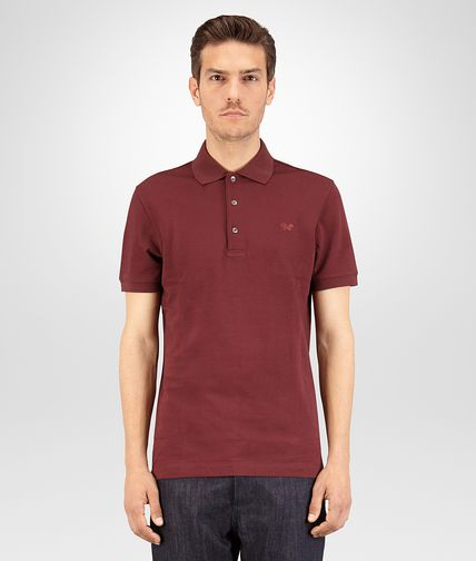 POLO IN BAROLO COTTON PIQUÉ
