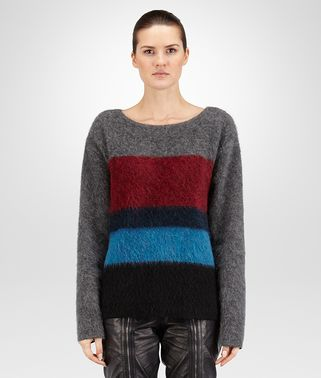 PULLOVER IN LANA MOHAIR GREY MULTICOLOR