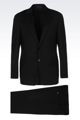Armani Two buttons suits Men comfort fit suit in virgin wool