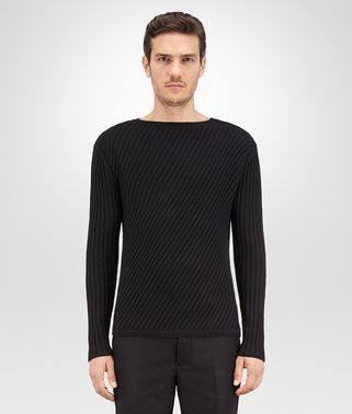 SWEATER IN NERO WOOL CASHMERE