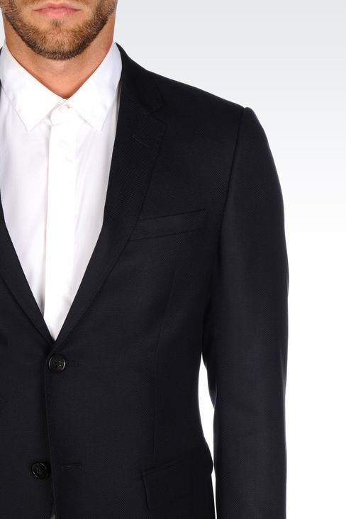 SLIM FIT SUIT IN VIRGIN WOOL: Two buttons suits Men by Armani - 5