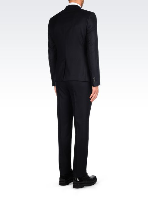 SLIM FIT SUIT IN VIRGIN WOOL: Two buttons suits Men by Armani - 4
