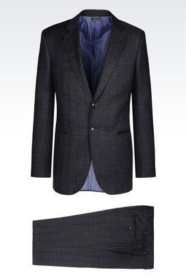 Armani Suits Men wall street line suit in virgin wool