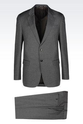Armani Suits Men soft line suit in virgin wool